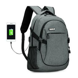 Men Anti-theft USB with Charger Port Backpack Laptop Noteboo