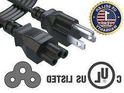 Pwr+® 6Ft 3Prong AC Power Cord Cable for Dell Hp Compaq Asu